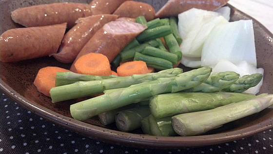 アスパラガスと野菜のポトフ調理前2